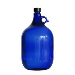 fľaša z modrého skla